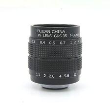 Fujian 35mm F1.7 CCTV Lens for Micro 4/3 NEX Nikon 1 EOS M Fujifilm Pentax Black