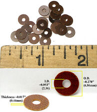 "24pc 1960s Champion 1/24 Slot Car 36D PHENOLIC MOTOR SPACER WASHERS .093"" I.D."