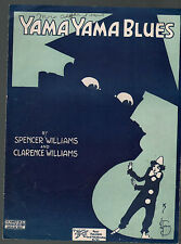Yama Yama Blues 1919 Spencer Williams Clarence Williams Sheet Music