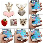 Crystal Bling Home Button Sticker Decor Gift For iPhone 3 4 5 6 iPad iPod Touch
