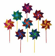 In the Breeze Classic Mylar Pinwheel Spinner (8 PC assortment)  pack of 8 NEW