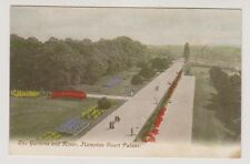 London postcard - The Gardens and River, Hampton Court Palace
