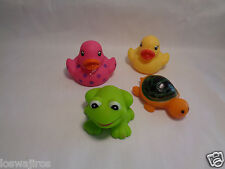 Lot of 4 Mini Rubber Bath Toys
