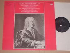 LEONHARDT - BYLSMA - TELEMANN - Sechs Sonaten für Blockflöte und Basso LP Eterna