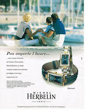 PUBLICITE ADVERTISING 114  1999  MICHEL HERBELIN   collection montre NEWPORT