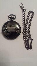 Vw beetle 1200 ref290 emblème noir poli case homme montre de poche