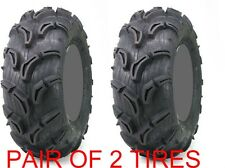 Pair of 2 Maxxis Zilla ATV Mud Tires Set 25x11x9 25x11-9  6 ply  3 wheelers also