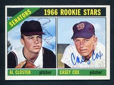 1966 Topps Baseball #549 Signed Al Closter ~ Casey Cox RC Rookie Dual Auto NM