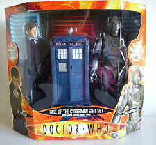 "Doctor dr who rise of the cyberman 12"" action figure set rare"