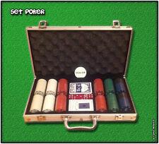 Set POKER 300 Fiches con Valigetta 2 Mazzi Carte da Gioco Texas Holdem