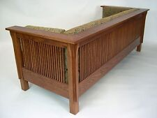 Mission Arts and Crafts Stickley Style Prairie Spindle Settle Sofa Couch