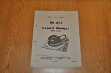 Philips AG 1025 Record Player deck Autochanger Workshop service manual AG1025