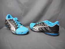 Puma Voltaic 3 Jr Athletic Sneakers Nylon Black Blue Silver Boys Size 5 NWOB!
