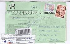 STORIA POSTALE - REPUBBLICA MULTIPLI - PIIM0085 - ATTI GIUDIZIARI - 5.00€