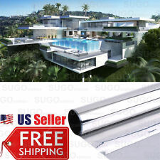 3FT x 24FT One Way Mirror Privacy Reflection Window Tint Film Energy Saver 15%