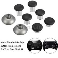 6Pcs Metal Buttons Mod Replacement Kit for Xbox one Elite PS4 Controller +case
