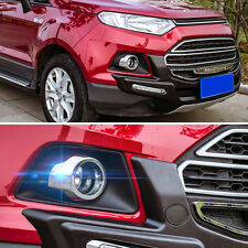Pair Chrome Front Fog light Lamp Cover Frame Trim Clip For Ford Ecosport 13-2015