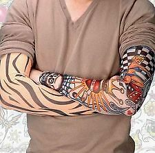 (1pair) Wearable Arm Tattoo Skin Cover Sleeves For Style / Biking Sun Protection