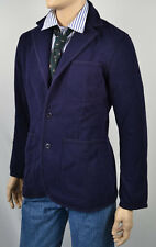 RUGBY by RALPH LAUREN NAVY BLUE BLAZER JACKET SPORT COAT THICK FITTED NWT M