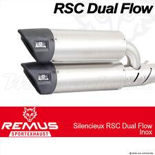 Paire de silencieux Remus RSC Dual Flow Inox sans cat. Vespa GTS 300 i e 2008+
