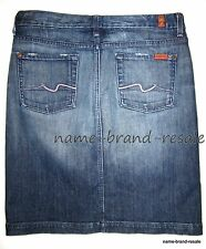 7 FOR ALL MANKIND Denim Jean SKIRT Womens 30 Pencil Slim Front Slit Sexy