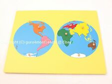 NEW Montessori Geography Material- Small Board Puzzle Map of the World