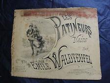 Partition Les patineurs Emile Waldteufel Grand Format Music Sheet