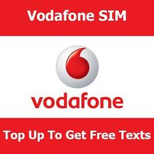 Vodafone Pay As You Go Sim For iPhone Nokia Samsung Sony Top Up To Get Free Text