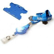 NHS Blu ID Card Holder & NHS Breakaway cordino con YOYO Badge Reel GRATIS P&P