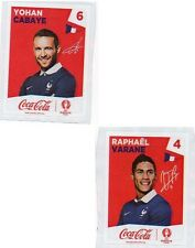 Vignettes Sticker Panini foot équipe France UEFA euro 2016 incomplet Coca cola