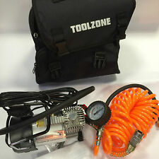 Toolzone 12 Volt Extra Heavy Duty Air Compressor Inflator Tyres Inflatable Toys