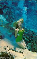 1973 Weeki Wachi Mermaid, Cheesecake Beauty, Florida Postcard
