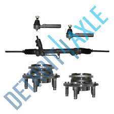 Rack and Pinion + Wheel Hub Bearings w/ ABS + Outer Tie Rods for Ford Mustang