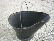 Vintage ?? Used Black  Metal Fireplace Charcoal Coal Bucket good for Flower Pot