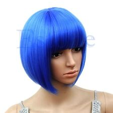 Hot Sexy Women's Short Bob Cut Fancy Dress Wigs Play Costume Lady Full Wig Party
