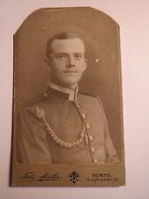 Worms - Soldat in Uniform mit Schützenschnur - Portrait / CDV