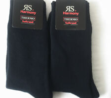 2 Pair Men's Thermal Socks Full Terrycloth Winter without elastic blue 39 - 42