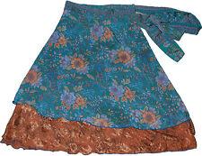 Pack of 5 Indian Silk Sari Magic Wrap Skirts
