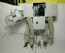 Star Wars AT-AT Walker Vehicle WORKING, Driver, Commander Hoth Rebel Trooper Lot