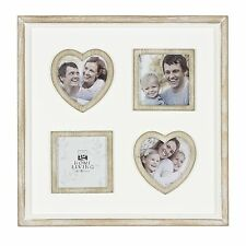 Multi Photo Frame with Hearts & Square Inserts (4) NEW in Gift Box - 24494