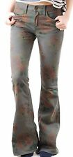 Wildfox Women`s Joni Flare Jeans in Toile Size 29 Grey Flower Print BNWT BCF510