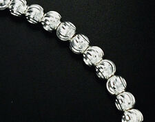 925 Sterling Silver 20 Diamond Cut Spacer Beads  5mm
