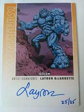 Layron DeJarnette 2014 Goodwins Champions Monsters Golem Artist Signatures /25