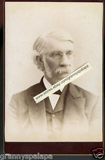 Cabinet Photo -Syracuse New York-NORTH Family Man (Prof) Pinch Glasses/Sideburns