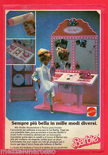 Pubblicità Advertising MATTEL 1987 Barbie Studio Acconciature