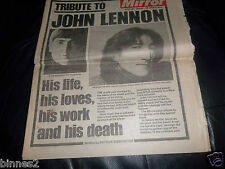 THE BEATLES - GENUINE 1980 DAILY MIRROR NEWSPAPER  TRIBUTE JOHN LENNON EXCELLENT