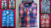 NWT Hollister Classic Flannel Shirt Button Down Mens Muscle Fit By Abercrombie