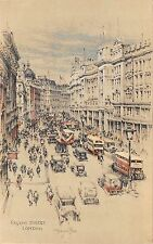 BR65066 regent street london double decker bus postcard  uk