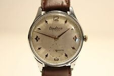 "VINTAGE RARE CLASSIC 36mm SUB SECOND MEN'S SWISS WATCH""OMIKRON"" 21 J./NICE DIAL"