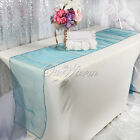 """10 Teal Blue 12""""x108"""" Organza Table Runner Wedding Party Supply Decoration Color"""